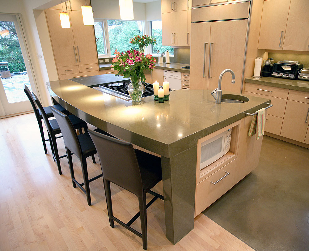 Cheng design honors best in concrete countertop design competition for Kitchen countertops designs