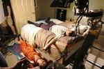 Jennifer Sciole and Aaron Douglas on Set