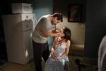 Aaron Douglas and Jennifer Sciole on Set