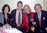 (l to r): Philanthropist Lillian Booth, Mira's son Brian Choudhary, Mira Zivkovich, Misha Dabich, at a benefit dinner for the preservation of a landmarked church.