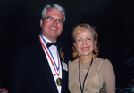 Mira Zivkovich with the 2005 Ellis Island Medal of Honor recipient Thomas Stankovich at the gala dinner festivities on Ellis Island.