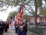Military reception for Ellis Island Medalists on Ellis Island in New York Harbor.