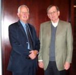 Peter Dasler, President of CanAlaska Uranium, and Ambassador Graham.