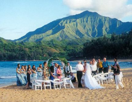 Wedding at Hanalei Colony