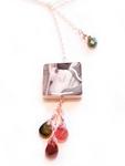 Lariat Photo Tile Necklace