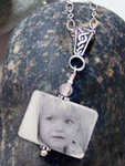 Silver Toggle Photo Tile Necklace