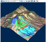 PDF3D generated GeoExpress Draped Coverage model