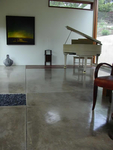 Polished concrete floors are an economic alternative for flooring.