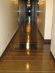 Polished concrete interior floors project a professional image.