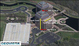 LOW-RES Geospatial Aerial image using GEOVISTA 3D Spatial Imaging [TM] technology
