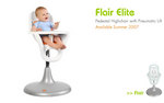 Highchair in stainless steel