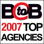 B-to-B Top Agencies for 2007 logo
