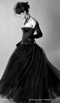 Gothic Beauty model Kat Black gown victorian style