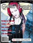 A NEW BEGINNING!  This cover image marks a departure from photographic styles previously employed by Gothic  Beauty magazine