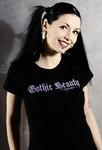 Gothic Beauty tee shirt model