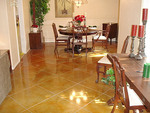 Houston area booms with decorative concrete indoors.