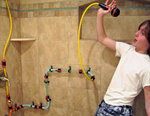 Kids Build Water Wall With AquaStruct