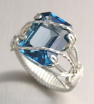 Blue Topaz Ring - London Emerald Cut
