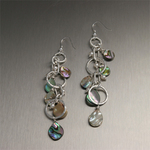 Mother of Pearl and Freshwater Pearl Earrings
