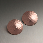 Hammered Copper Disk Earrings