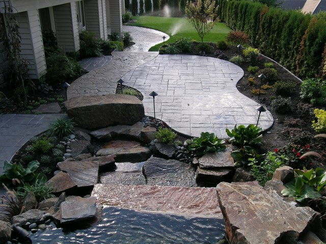 Concrete patio home design scrappy - Concrete backyard design ...