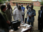 Archbishop Odama makes the first phone to an IDP camp