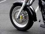 RoadLoK® Motorcycle Locking System on Harley-Davidson® Fat Boy®