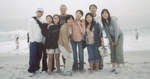 Paul with Chinese Youth Group at Carmel Beach.
