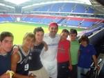 EduKick V.P., Joey Bilotta with summer camp players at Bolton Wanderer's Reebok Stadium
