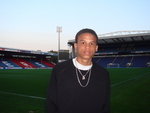 Blackburn Rovers Football Studies course player, Jon Martin, from Switzerland, poses for a picture inside Ewood Stadium