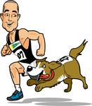 heat cartoon with dog