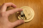 The SIMLock engaged on a standard deadbolt