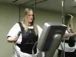Andrea Evans, part of the X2 Fit and Fertile Program, works out.