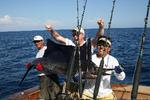 Team Nebraska's Marty Hager Celebrates Sailfish Release