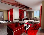 Rock Star Guest Suite Living Room Rendering
