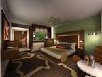 Studio guest room rendering