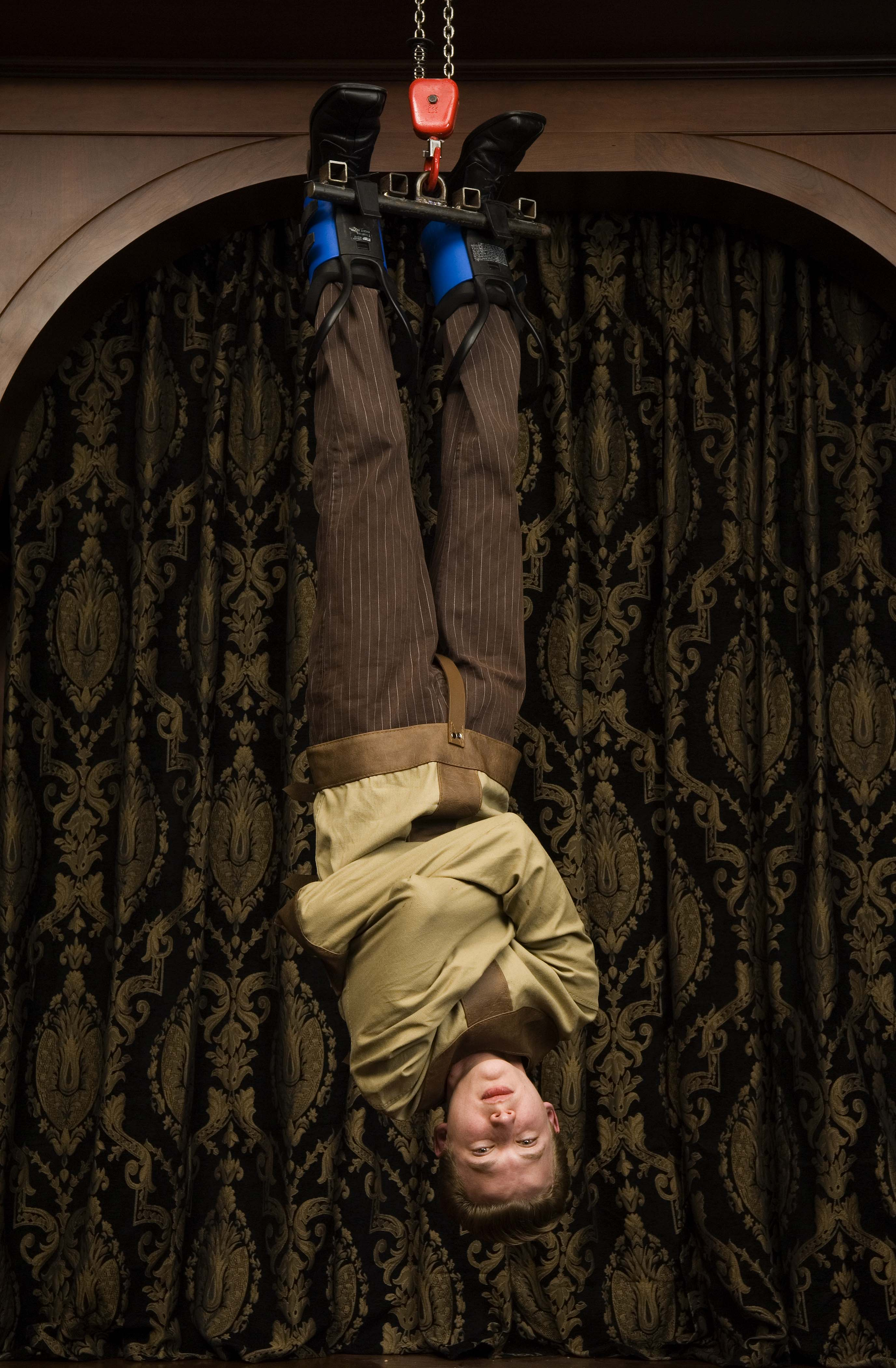 Magician Faces Death Defying Challenge Escaping From Two ...