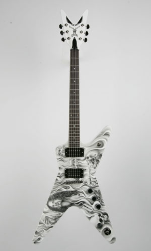 Hand-Painted Guitar by Tattoo Artist, Bob Tyrrell