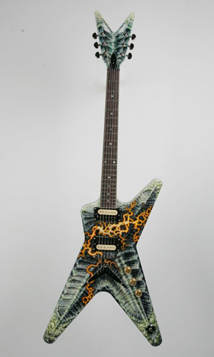Hand-Painted Guitar by Tattoo Artist, Guy Aitchison