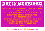 National Action Against Obesity (NAAO) - Not In My Fridge