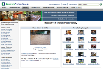 Largest Collection of Decorative Concrete Photos Now Offers