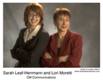 Sarah Leaf-Herrmann and Lori Moretti