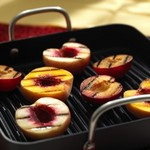 Grilled California peaches, pears and nectarines