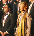 Medalists Daniel J. Thomas and Mira Zivkovich