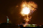 Grucci fireworks over the Statue of Liberty