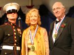 Medalists Mira Zivkovich and Obren Gerich
