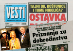 A clipping from a Serbian Newspaper stating the honor Mira Zivkovich has received