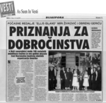 Serbian Newspaper features the Ellis Island Medal of Honor ceremony