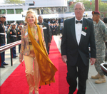 Obren Brian Gerich and Mira Zivkovich enter on red carpet