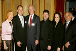 Medalists: Mira Zivkovich, George Altirs, Obren Brian Gerich, with Father Djokan Majstorovic, his wife Miriana Majstorovic, and James T. Vallas at the Metropolitan Club in New York City, NY
